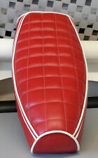 Vespa PX / LML Elasticated Seat Cover Square Quilt 3 Piping Various Colours