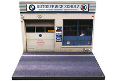Diorama présentoir BMW Autoservice Schulz - 1/43ème - #43-2-A-A-063