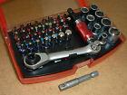 Bit-Satz 42tlg. Magnet- Bithalter Ratsche Steckschlüssel Bit-Adapter