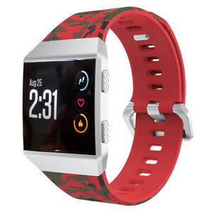 Replacement Band Pattern Strap for Fitbit Ionic Wristband Metal Buckle Tracker