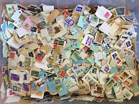 1+Lb.Foreign Stamps Bulk Lot- On Paper Mix -For Art,Crafts,Decoupage,Collage etc