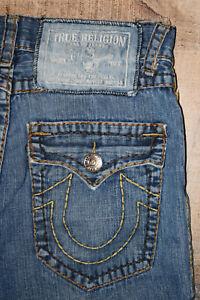 Mens True Religion Jeans Distressed-Flap--Ramie-Polyester-Silk-Size 32x31 B18