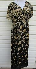 VIntage Carole Little Women's Dress Floral Printed Rayon 1940's Look Sz 8