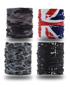 YouGa Headwear Headbands 6PCS Multifunctional Bandana Wide Seamless Magic Scarf