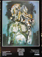 CARTEL EXPOSICION,CHILLIDA,MIJARES,SAURA,TAPIES - EL INFORMALISMO ESPAÑOL.1989.