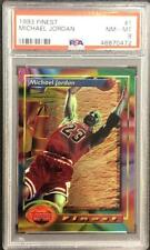 1993 TOPPS FINEST MICHAEL JORDAN CARD #1 PSA NM-MT 8