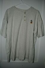 Vintage Mickey Mouse Mens Pullover Classic Disney Collection Design Short Sleeve