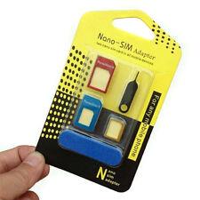 Para Nano,Estándar,Micro Sim Tarjeta Adaptador Universal Convertidor 5 EN 1