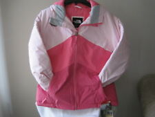 NWT-THE NORTH FACE GIRLS BRIANNA INSULATED HOODED JACKET COY PINK XL 18 $150