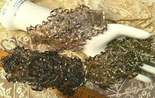 """Applique Metallic Embroidered Sheer Bead Sequins 1pc 3.5x7.5/"""""""