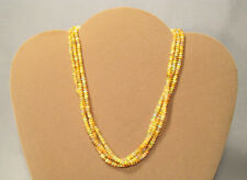 14K Yellow Gold Fire Jelly Opal Triple Strand Beaded Choker Necklace - Gorgeous!