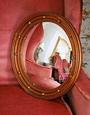 Un bel e Grande Antico Periodo edoardiano Gilded BUTLER'S Specchio Convesso
