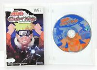 Naruto: Clash of Ninja Revolution 2 (Nintendo Wii, 2008) Video Game with Manual