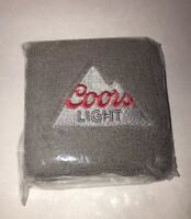 TWO COORS LIGHT WRIST SWEAT BANDS Brand New In Package.