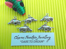 JEWELLERY WHOLESALE BULK CHARM PENDANTS X50 PIG BOAR HOG ANIMAL SILVERTONE (C385