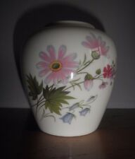 Crown Staffordshire Wild Flowers Small Vase Jar Excellent Near Mint Condition