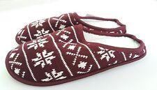 Men's Burgundy Fair Isle mule slippers Slumberz size UK6 / 7_EURO 39/40_NEW