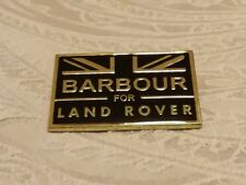 A  Authentic Barbour for Land Rover pin badge