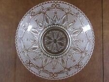 Vintage Federal Sandwich Glass HERITAGE Classic Fruit Bowl Bead & Scroll Pattern