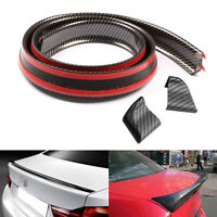4.9ft Universal Carbon Fiber PU Car Rear Roof Trunk Spoiler Wing Lip Sticker UK