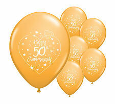 """40 x 50th GOLDEN ANNIVERSARY 12"""" HELIUM QUALITY PEARLISED BALLOONS (PA)"""