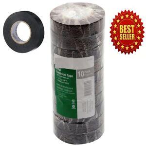 New Global Brand 60-ft Black Electrical Tape 10 Rolls Per Pack