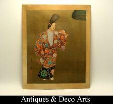 Shinagawa Wood Block Print of Japanese Geisha by Kyoto Hanga-In (29x23cm)