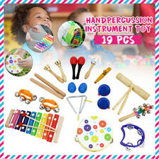 19 Hand Percussion Kids Baby Wooden Toddler Musical Instrument Toys Band AU
