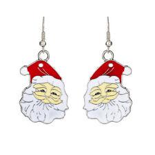 Carini Bianco E Rosso Babbo Natale Goccia Orecchini Natale Regalo Di Natale E667