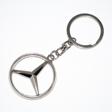 Mercedes Benz Car Keyring Key Ring  Metal Chrome Stainless Steel Polished OZ