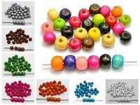 """200 Round Wood Beads 10mm(3/8"""")  Wooden Beads Jewelry Making Color for Choice"""