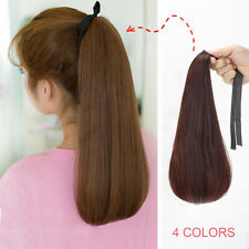 Clip in Ponytail As Human Hair Synthetic Hairpiece Wrap Around Hair Extensions