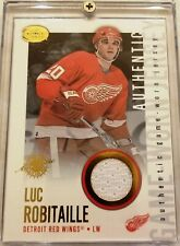 2002-03 Pacific Calder Jersey Ottawa Detroit Red Wings Luc Robitaille Card #10