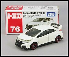 TOMICA #76 HONDA CIVIC TYPE R 1/64 TOMY 2016 JULY NEW MODEL DIECAST CAR WHITE