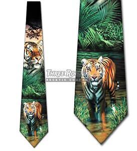 Tiger Ties Mens Tigers Neckties Animal Neck Tie NWT