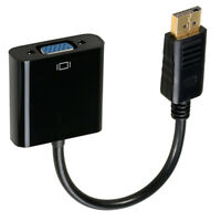 Mini HD Display Port DP Male to VGA Female Video Adapter Converter Cable Copper
