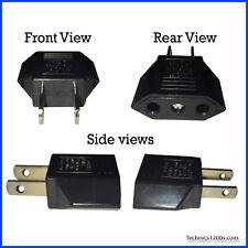 Technics SL 1200 1210 Turntable 2 Pin Plug Adapter European to USA North America