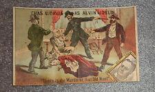Grafik Victorian Werbung Trade Card ALVIN JOSLIN Komödie spielen