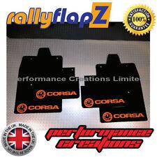 rallyflapz passend für Opel Corsa C (00-07) Schmutzfänger schwarz Logo Orange