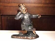 Signed Vintage Cast Metal Clown Figurine