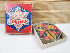 Vintage Contack Game Parker Brothers 1939 Triangular Dominoes Tiles Strategy Box