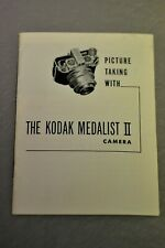 Kodak Medalist II camera instruction book in English. 16 pages. White cover. #2