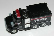 tonka fire department engine truck black real rider tires ship max $14