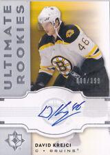 07-08 UD Ultimate David Krejci /399 Auto Rookie Bruins RC 2007