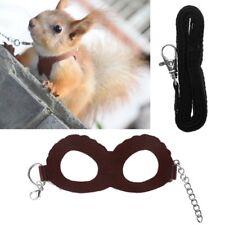 Pet Harness Adjustable Guinea Pig Hamster Training Walking Leather Leash