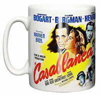 Dirty Fingers Mug, Casablanca Bogart Bergman Classic Movie Poster Scene Gift