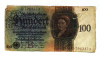1924 Germany 100 Reichsmark Banknote - 100000000000000 Mark replacement