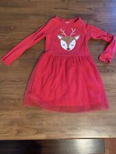 Girls Holiday Christmas Reindeer Dress Carters 4T
