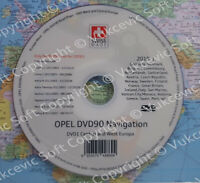 OPEL DVD90 Navigation Map Update 2019 Europe DVD New