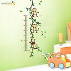 MONKEY TREE VINE Wall Decal Height Measure Chart Vinyl Sticker Kid Nursery Decor